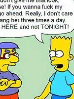 Lisa gets Bart Simpson before gets banged hardly