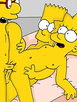 Lisa Simpson in stockings shares dick and penetrated